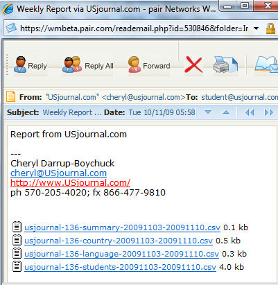 New report in csv format