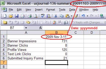Summary of new report in csv format