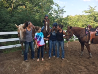 Goofy girls and cool horses in central Pennsylvania